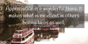 Voltaire Quote About Inspirational, Inspiring, Christmas: Appreciation Is A Wonderful Thing...