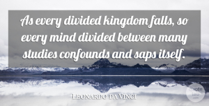 Artist Quotes, Leonardo da Vinci Quote About Fall, Artist, Simplicity: As Every Divided Kingdom Falls...