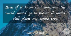 Martin Luther Quote About Faith, Hope, Wisdom: Even If I Knew That...