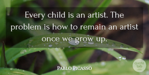 Pablo Picasso Quote About Inspirational, Motivational, Leadership: Every Child Is An Artist...