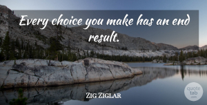 Entrepreneur Quotes, Zig Ziglar Quote About Inspirational, Choices Made, Entrepreneur: Every Choice You Make Has...