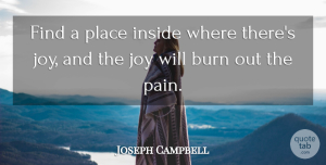 Inspirational Quotes, Joseph Campbell Quote About Inspirational, Life, Happiness: Find A Place Inside Where...