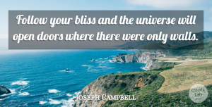 Inspirational Quotes, Joseph Campbell Quote About Inspirational, Life, Faith: Follow Your Bliss And The...