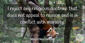 Motherhood Quotes, Mahatma Gandhi Quote About Faith, Religious, Motherhood: I Reject Any Religious Doctrine...