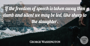 George Washington Quote About Freedom, Taken, 4th Of July: If The Freedom Of Speech...