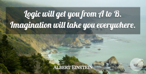 Success Quotes, Albert Einstein Quote About Inspirational, Success, Graduation: Logic Will Get You From...