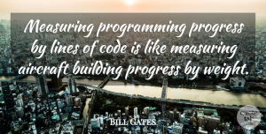 Success Quotes, Bill Gates Quote About Success, Trust, Leadership: Measuring Programming Progress By Lines...