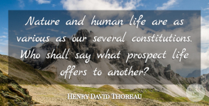 Nature Quotes, Henry David Thoreau Quote About Nature, Literature, Constitution: Nature And Human Life Are...