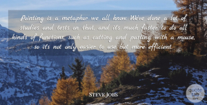 Steve Jobs Quote About Cutting, Use, Done: Pointing Is A Metaphor We...