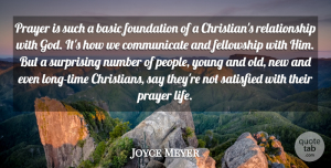 Christian Quotes, Joyce Meyer Quote About Christian, Prayer, Numbers: Prayer Is Such A Basic...