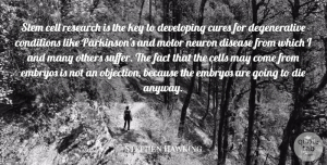 Motor Quotes, Stephen Hawking Quote About Cell, Cells, Conditions, Cures, Developing: Stem Cell Research Is The...