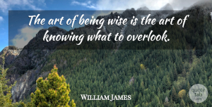 William James Quote About Positive, Wise, Wisdom: The Art Of Being Wise...