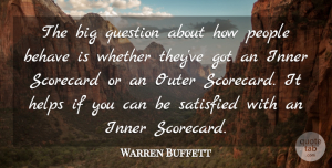 Warren Buffett Quote About People, Helping, Bigs: The Big Question About How...