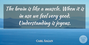 Carl Sagan Quote About Wisdom, Understanding, Brain: The Brain Is Like A...