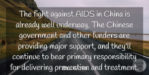 Responsibility Quotes, Bill Gates Quote About Responsibility, Fighting, Government: The Fight Against Aids In...