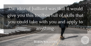 Robin Williams Quote About undefined: The Idea Of Juilliard Was...
