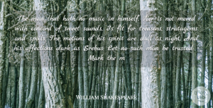 Sweet Quotes, William Shakespeare Quote About Music, Sweet, Men: The Man That Hath No...