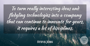 Success Quotes, Steve Jobs Quote About Success, Business, Technology: To Turn Really Interesting Ideas...