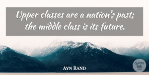 Ayn Rand Quote About Future, Past, Class: Upper Classes Are A Nations...
