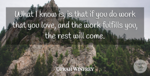 Inspirational Quotes, Oprah Winfrey Quote About Love, Inspirational, Life: What I Know Is Is...