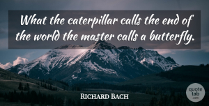 Richard Bach Quote About Inspirational, Change, Inspiring: What The Caterpillar Calls The...