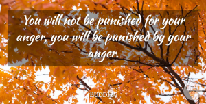Indian Leader Quotes, Buddha Quote About Anger, Indian Leader, Punished: You Will Not Be Punished...