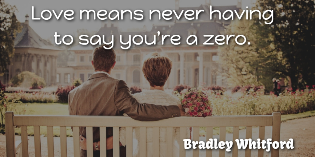 Bradley Whitford Quote About Love: Love Means Never Having To...