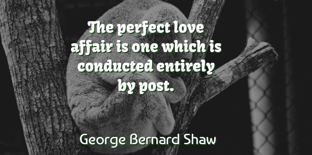 George Bernard Shaw Quote About Love, Funny, Humor: The Perfect Love Affair Is...