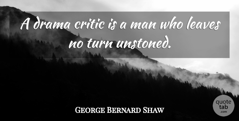 George Bernard Shaw Quote About Drama, Men, Critics: A Drama Critic Is A...