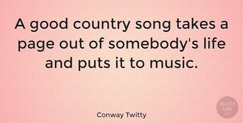Conway Twitty: A good country song takes a page out of ...