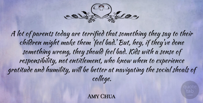 Amy Chua A Lot Of Parents Today Are Terrified That Something They