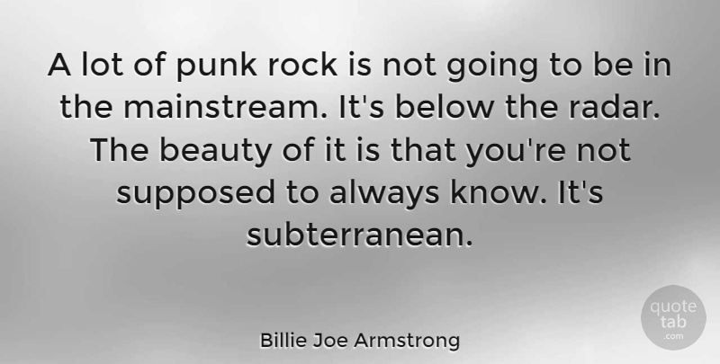 Billie Joe Armstrong: A lot of punk rock is not going to be ...