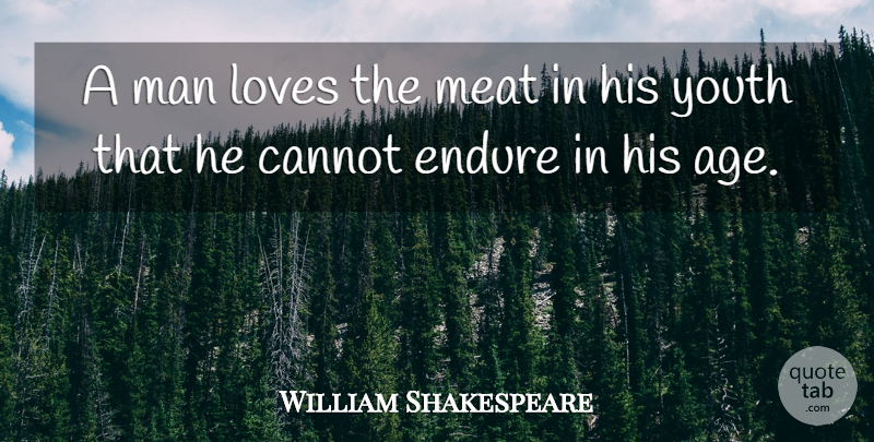 William Shakespeare Quote About Love, Time, Men: A Man Loves The Meat...