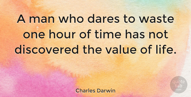 Charles Darwin Quote About Inspirational, Life, Encouraging: A Man Who Dares To...