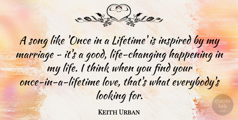 Keith Urban A Song Like Once In A Lifetime Is Inspired By My