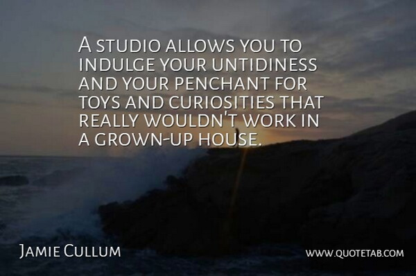 Jamie Cullum Quote About Indulge, Studio, Work: A Studio Allows You To...