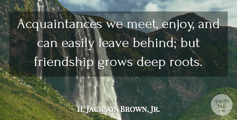 H Jackson Brown Jr Acquaintances We Meet Enjoy And Can Easily