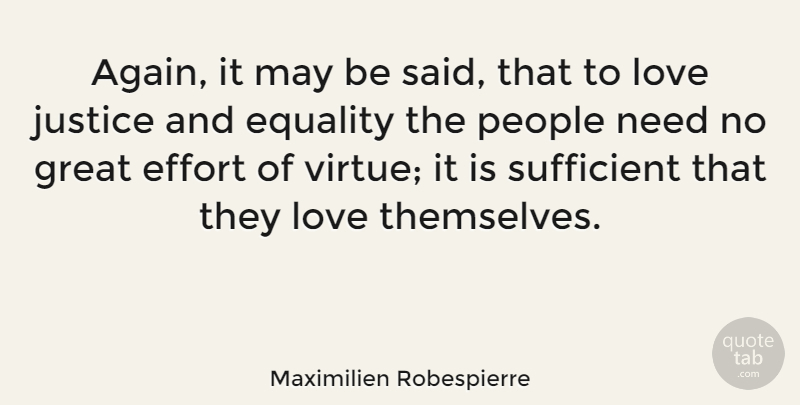 Maximilien Robespierre Again It May Be Said That To Love Justice