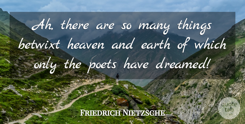Friedrich Nietzsche Quote About Heaven, Earth, Heaven And Earth: Ah There Are So Many...