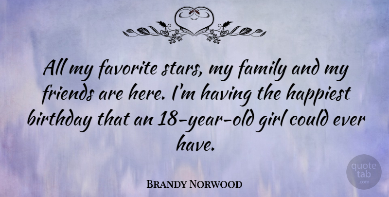 Brandy Norwood All My Favorite Stars My Family And My Friends Are
