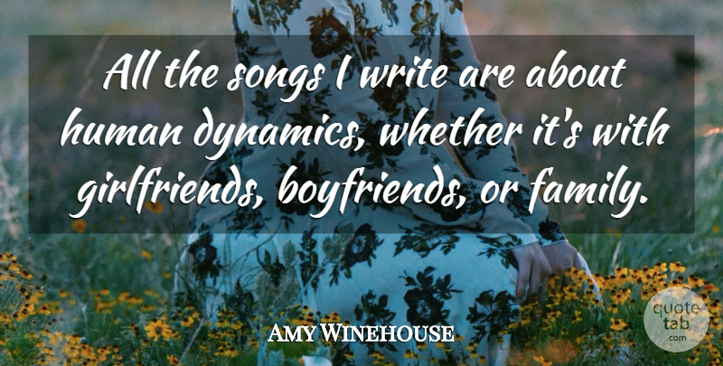 Amy Winehouse: All the songs I write are about human ...