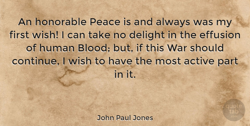 John Paul Jones An Honorable Peace Is And Always Was My First Wish
