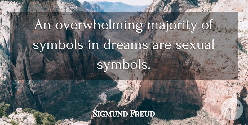 Sigmund Freud An Overwhelming Majority Of Symbols In Dreams Are