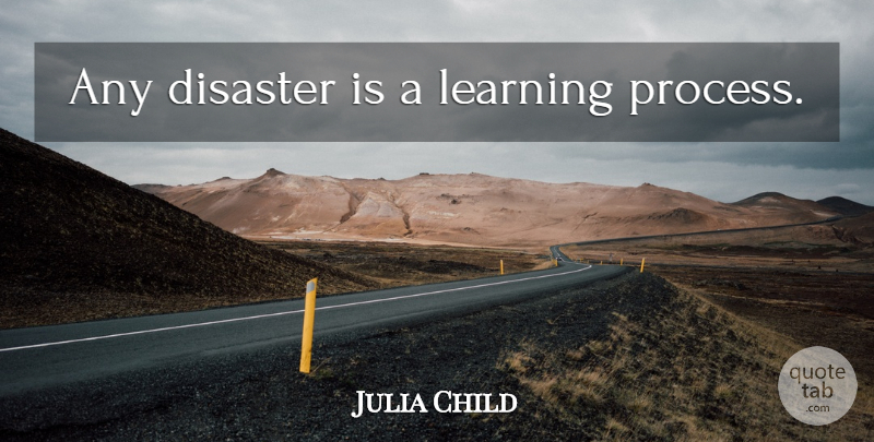 Julia Child Quote About Failure, Disaster, Process: Any Disaster Is A Learning...