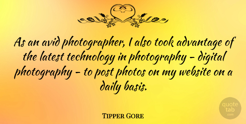Tipper Gore As An Avid Photographer I Also Took Advantage Of The