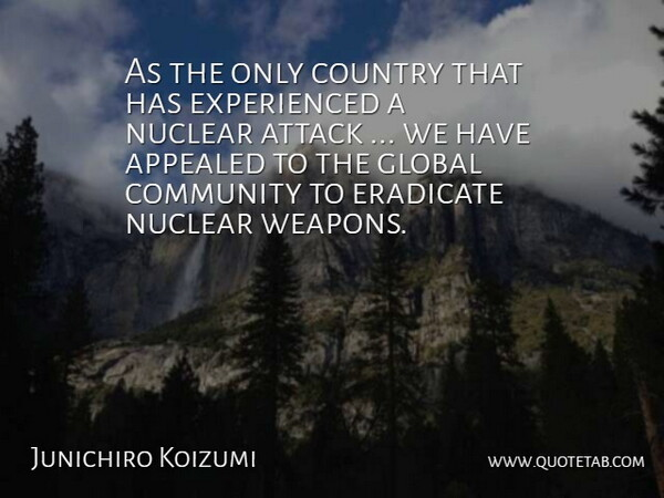 Junichiro Koizumi As The Only Country That Has Experienced A