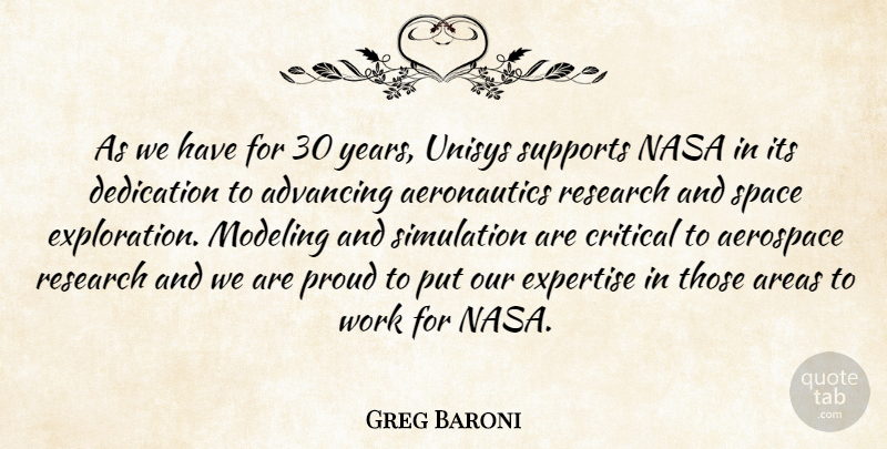 Greg Baroni: As we have for 30 years, Unisys supports NASA ...