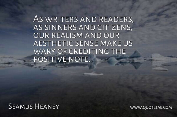 seamus heaney as writers and readers as sinners and citizens