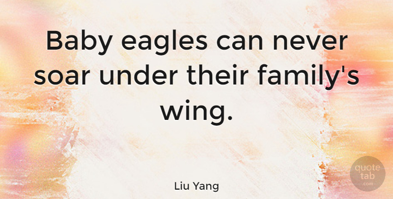 Liu Yang Quote About Baby, Wings, Eagles: Baby Eagles Can Never Soar...