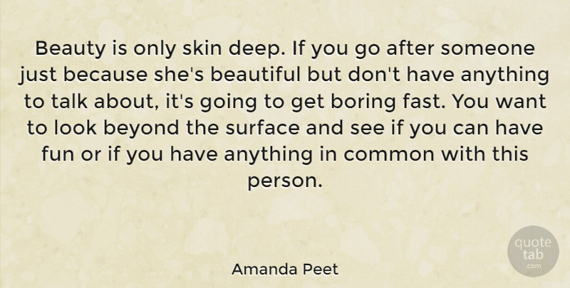 Amanda Peet Beauty Is Only Skin Deep If You Go After Someone Just